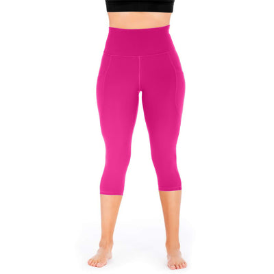 Mesh Out Capri Leggings - Jewel Fuchsia