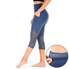 Mesh Out Capri Leggings - Slate Blue