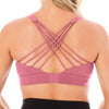 Strappy Back 2.0 Nursing Sports Bra - Pink Rose