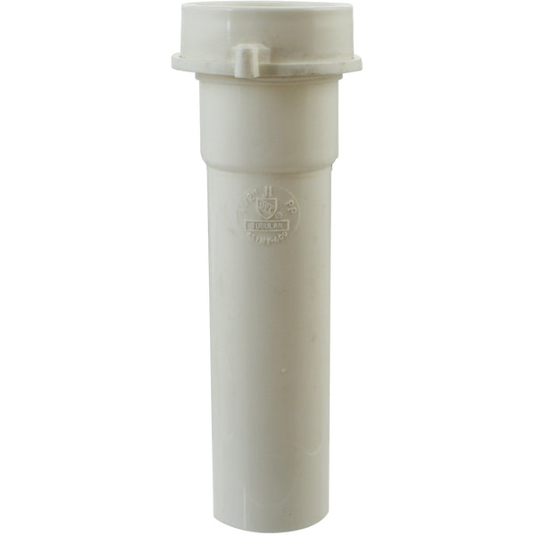 Westbrass White 1-1/2 in. Tubular Bath Waste Extension Tube