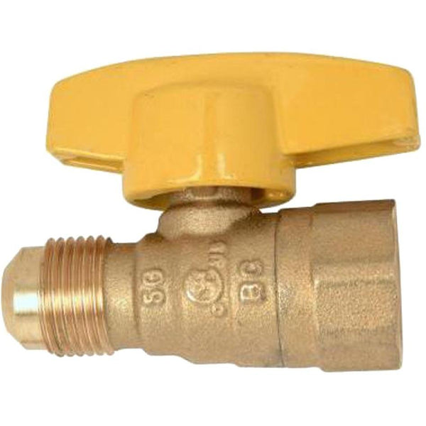 Westbrass 1/2 in. FIP Inlet x 1/2 in. Flare Outlet Straight Stop Gas Valve GV084F