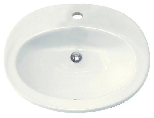 American Standard 0478.001.020 Piazza Vitreous China Countertop Sink with...