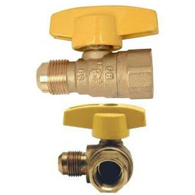 Westbrass 1/2 in. FIP Inlet x 3/8 in. Flare Outlet Straight Stop Gas Valve GV064F