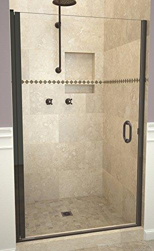 "Tile Redi USA 12RCOLD03472 Redi Swing Shower Door, 72"" x 33-34"", Clear Glass"