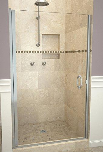 "Tile Redi USA 12RCBLD03466 Redi Swing Shower Door, 65-9/16"" x 33-34"", Clear Glass"