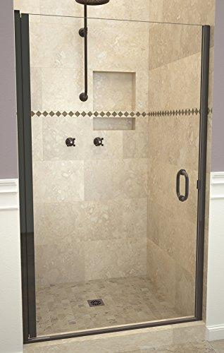 "Tile Redi USA 12RCOLD02872 Redi Swing Shower Door, 72"" H x 27-28"" W, Clear Glass"