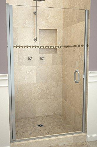 "Tile Redi USA 12RCBLD03376 Redi Swing Shower Door, 76"" H x 32-33"" W, Clear Glass"