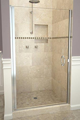 "Tile Redi USA 12RCPLD03366 Redi Swing Shower Door, 65-9/16"" H x 32-33"" W, Clear Glass"