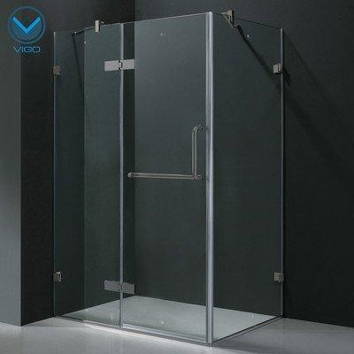 "VIGO 36"" x 48"" Frameless Solid Brass Shower Enclosure"