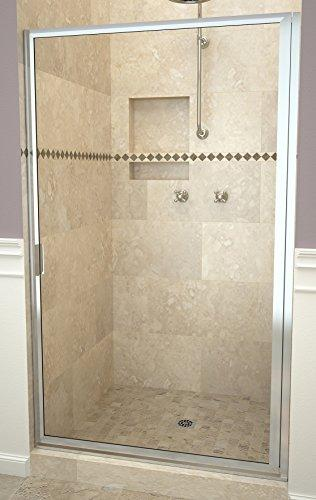 "Tile Redi USA 11RCPFD03371 Redi Swing Shower Door, 70-1/2"" H x 32-3/4-33-3/4"" W, Clear Glass"