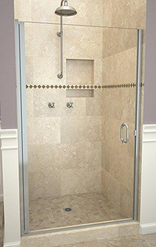 "Tile Redi USA 12RCBLD02872 Redi Swing Shower Door, 72"" H x 27-28"" W, Clear Glass"