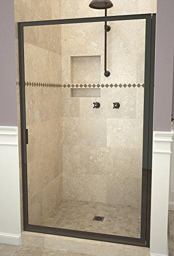 "Tile Redi USA 11RCOFD02964 Reid Swing Shower Door, Installation opening: 63-1/2"" H x 28-7/8-29-7/8"" W, Clear Glass"