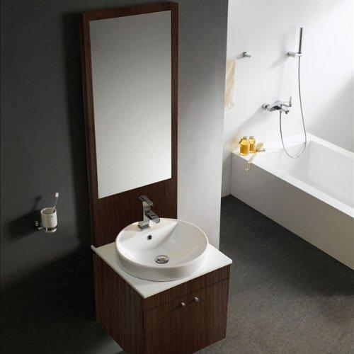 Vigo Industries VG09013111K Bathroom Vanity, Walnut