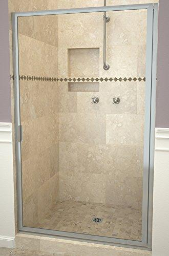 "Tile Redi USA 11RCBFD03371 Redi Swing Shower Door, 70-1/2"" x 32-3/4-33-3/4"", Clear Glass"