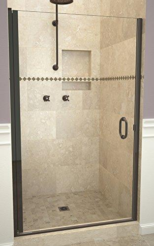 "Tile Redi USA 12RCOLD03372 Swing Shower Door, 72"" x 32-33"", Clear Glass"