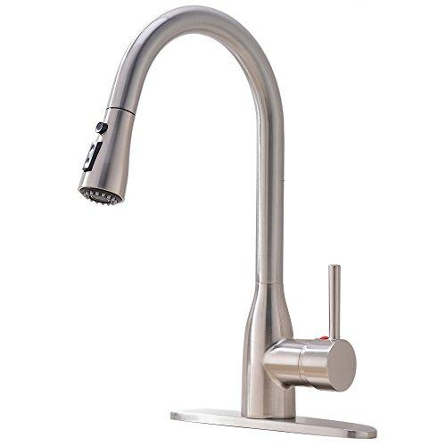 Hotis Commercial High Arc Pull Out Single Handle Touch Stainless