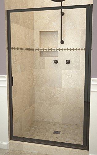 "Tile Redi USA 11RCOFD03371 Redi Swing Shower Door, 70-1/2"" H x 32-3/4-33-3/4"" W, Clear Glass"