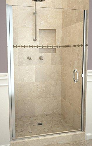 "Tile Redi USA 12RCPLD03372 Redi Swing Shower Door, 72"" x 32-33"", Clear Glass"