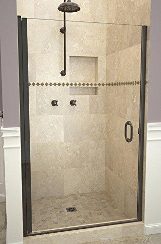 "Tile Redi USA 12RCOLD03366 Redi Swing Shower Door, 65-9/16"" x 32-33"", Clear Glass"