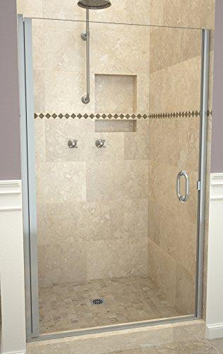 "Tile Redi USA 12RCBLD03366 Redi Swing Shower Door, 65-9/16"" x 32-33"", Clear Glass"