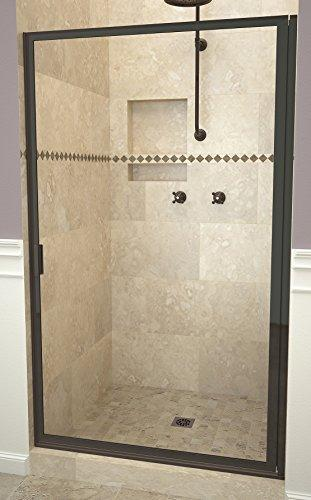 "Tile Redi USA 11RCOFD03364 Redi Swing Shower Door, 63-1/2"" H x 32-3/4-33-3/4"" W, Clear Glass"