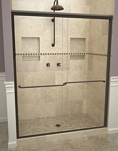 "Tile Redi USA 12RCOLB04770 Redi Sliding Shower Door, 70"" x 43-47"", Clear Glass"