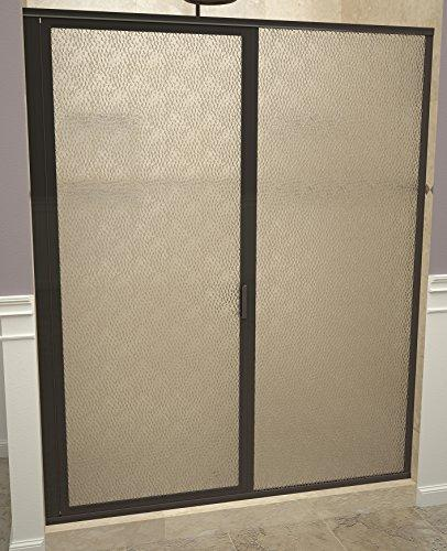 "Tile Redi USA 11ROOFP04769 Swing Shower Door, 68-5/8"" H x 46-47"" W, Obscure Glass"