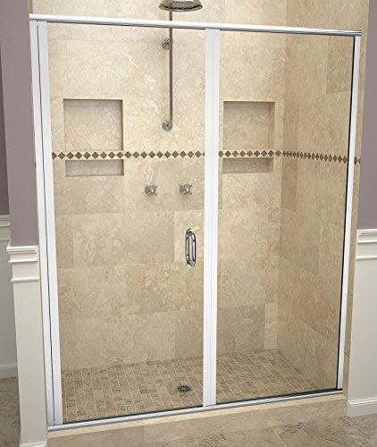 "Tile Redi USA 12RCPLP04772 Reid Swing Shower Door, Installation opening: 72-1/8"" H x 46-47"" W, Clear Glass"