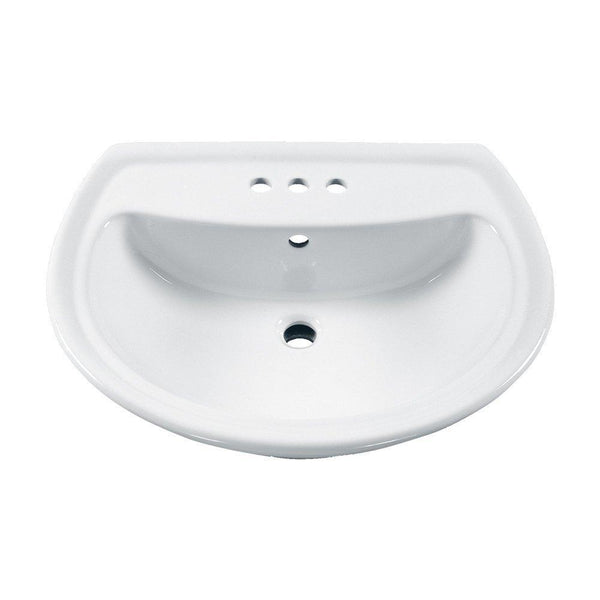 American Standard 0236.004.020 Cadet Pedestal Sink Basin with 4-Inch Faucet...