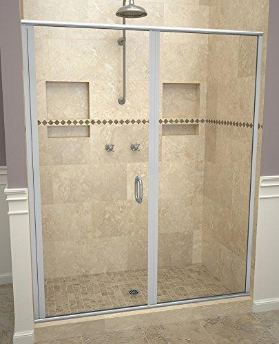 "Tile Redi USA 12RCBLP05876 Redi Swing Shower Door, 76-1/8"" H x 57-58"" W, Clear Glass"