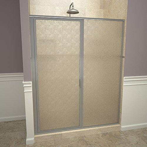 "Tile Redi USA 11ROBFP04669 Redi Swing Shower Door, 68-5/8"" H x 45-46"" W, Obscure Glass"