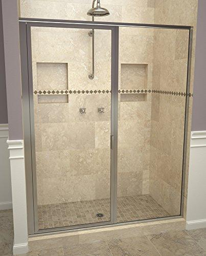 "Tile Redi USA 11RCPFP05872 Redi Swing Shower Door, 72-1/8"" x 57-58"", Clear Glass"