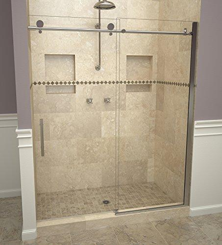 "Tile Redi USA 28VCPHP05976 Reid Sliding Shower Door, Installation opening: 76"" H x 57-59"" W, Clear Glass"
