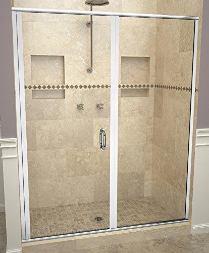 "Tile Redi USA 12RCPLP05872 Redi Swing Shower Door, 72-1/8"" x 57-58"", Clear Glass"