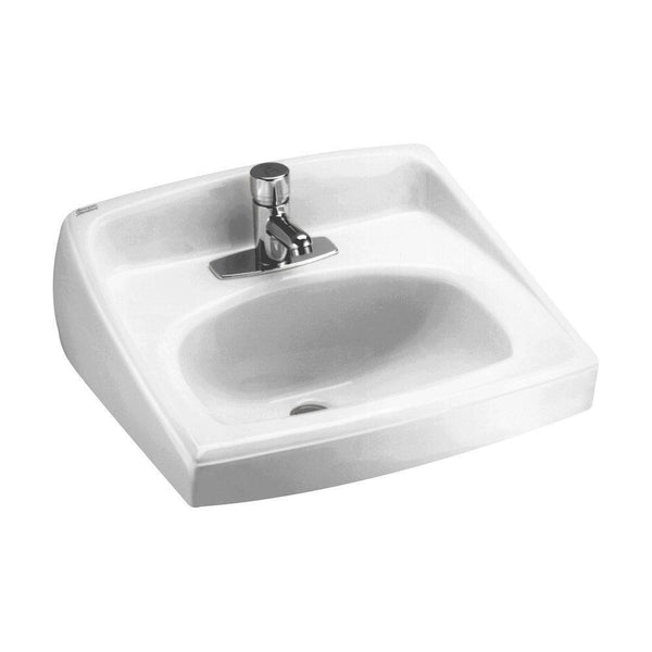 American Standard 0356.041.020 Lucerne Wall-Mount Lavatory Sink with Center...