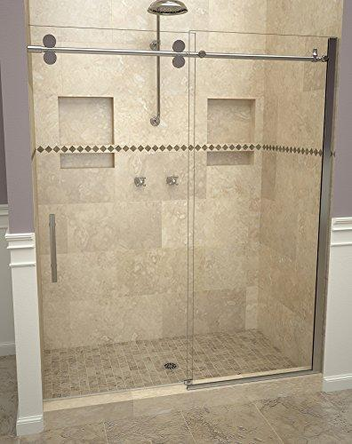 "Tile Redi USA 28VCPXP04776 Sliding Shower Door, 76"" H x 45-47"" W, Clear Glass"