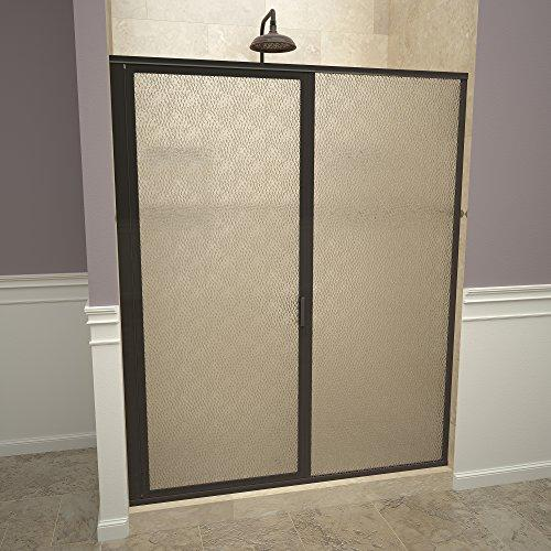 "Tile Redi USA 11ROOFP05969 Swing Shower Door, 68-5/8"" x 58-59"", Obscure Glass"