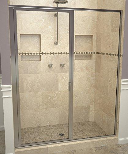 "Tile Redi USA 11RCPFP05972 Clear Glass Swing Shower Door, 72-1/8"" x 58-59"""