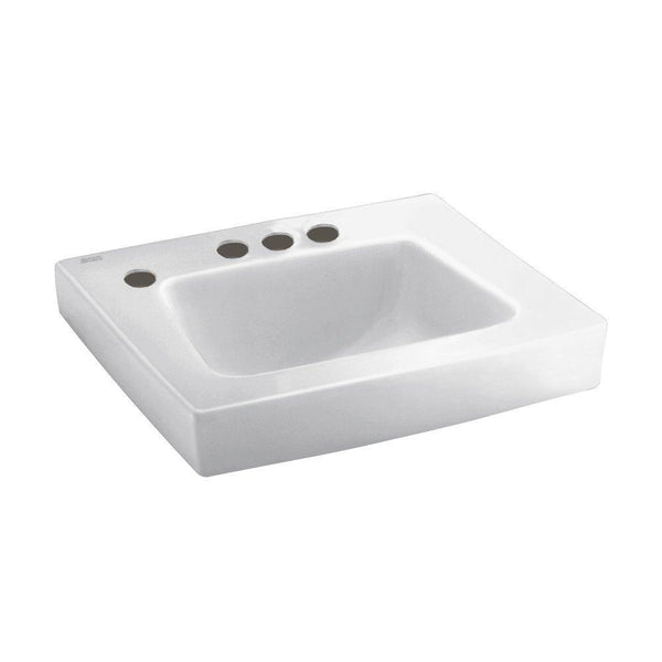 American Standard 0195.198.020 Roxalyn Wall-Hung Lavatory 4-Inch Center Set...
