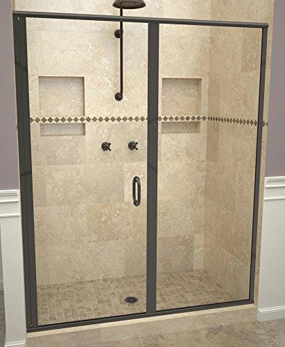 "Tile Redi USA 12RCOLP05969 Redi Swing Shower Door, 68-5/8"" x 58-59"", Clear Glass"