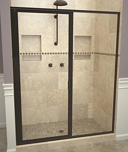 Tile Redi USA 11RCOFP04769 Reid Swing Shower Door, Installation opening: 68-5/8 H x 46-47 W, Clear Glass