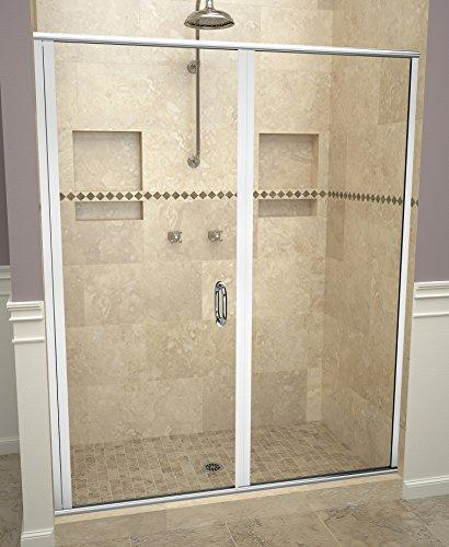"Tile Redi USA 12RCPLP05969 Redi Swing Shower Door, 68-5/8"" H x 58-59"" W, Clear Glass"