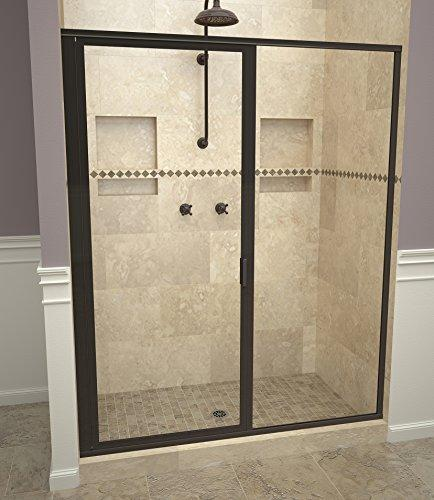 "Tile Redi USA 11RCOFP04669 Redi Swing Shower Door, 68-5/8"" H x 45-46"" W, Clear Glass"