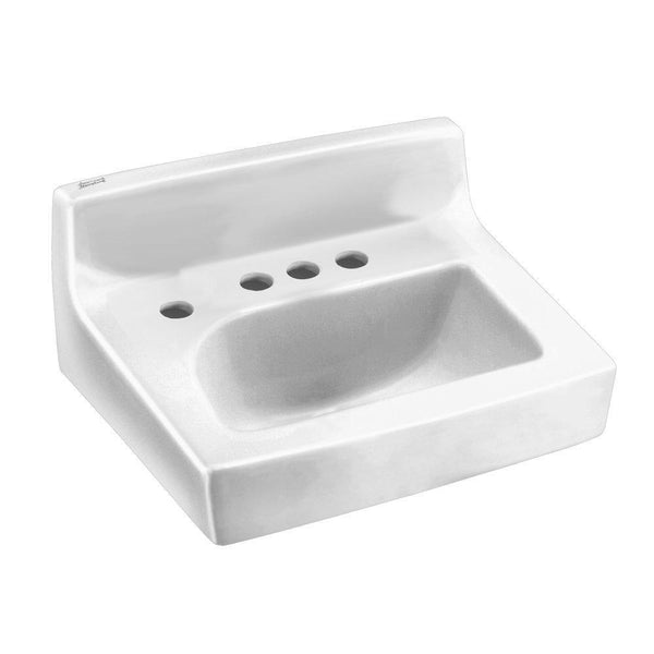 American Standard 0373.043.020 Penlyn Wall-Hung Lavatory 4-Inch Center Set...