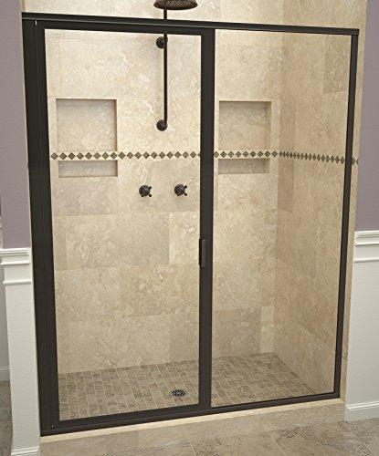 "Tile Redi USA 11RCOFP04772 Redi Swing Shower Door, 72-1/8"" x 46-47"", Clear Glass"