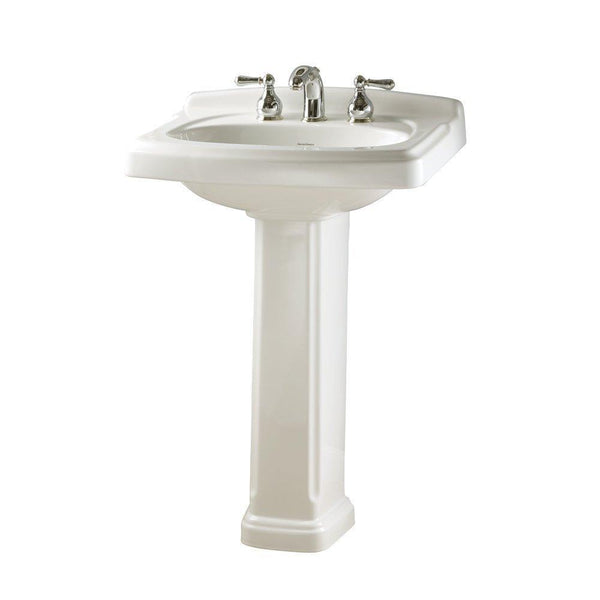 American Standard 0555.801.020 Townsend Pedestal Bathroom Sink with 8-Inch...