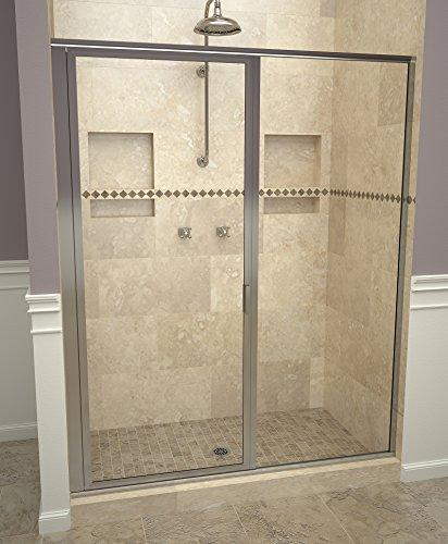 "Tile Redi USA 11RCPFP04772 Reid Swing Shower Door, Installation opening: 72-1/8"" H x 46-47"" W, Clear Glass"