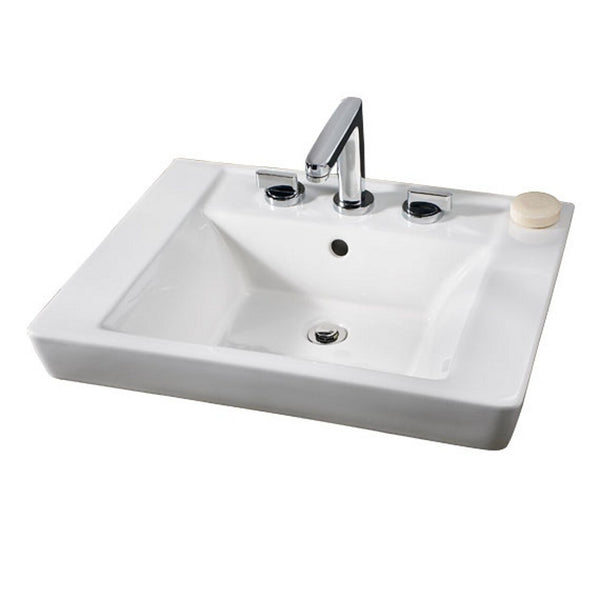 American Standard 0641.001.222 Boulevard Above Countertop Bathroom Sink, Linen