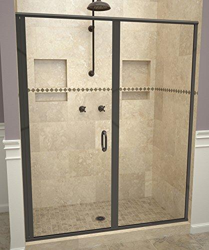 "Tile Redi USA 12RCOLP04672 Redi Swing Shower Door, 72-1/8"" x 45-46"", Clear Glass"