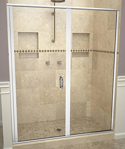 "Tile Redi USA 12RCPLP04669 Redi Swing Sliding Shower Door, 68-5/8"" x 45-46"", Clear Glass"